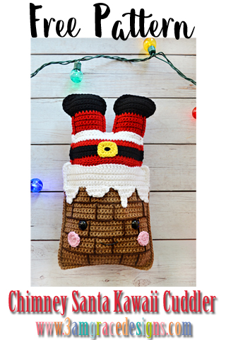 Our Free Chimney Santa amigurumi crochet pattern makes an adorable kawaii Christmas decoration!
