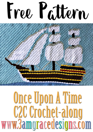 Once Upon A Time C2C CAL - Week 6 - Free Crochet Pattern