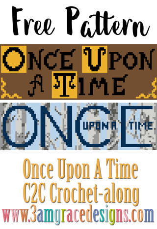 Once Upon A Time C2C free crochet pattern & tutorial for our graphgan blanket project. This week is the show banners including the Story Book or Tree version.