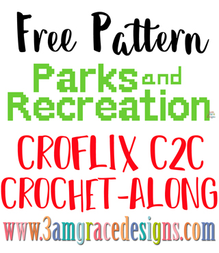 Parks and Recreation C2C crochet pattern & tutorial for our Croflix graphgan blanket project.