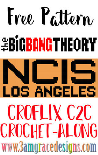 Our Croflix C2C crochet pattern & tutorial allows you to choose your favorite graphs for a custom graphgan blanket. These two free panels are for NCIS & The Big Bang Theory!