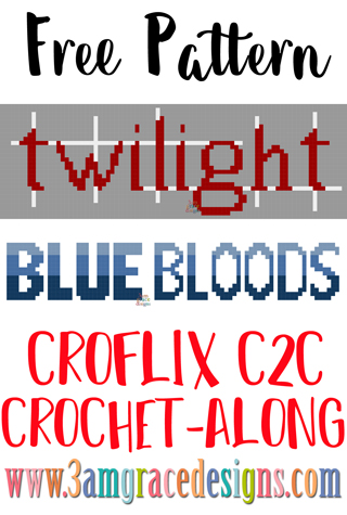 Our Croflix C2C crochet pattern & tutorial allows you to choose your favorite graphs for a custom graphgan blanket. This week features our Twilight & Bluebloods panels.