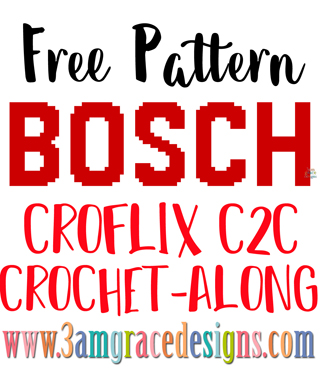Enjoy the Bosch panel for our Croflix C2C crochet pattern & tutorial allows you to choose your favorite graphs for a custom graphgan blanket