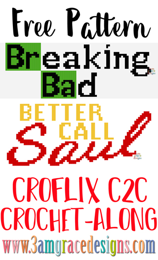 We're excited to release the Breaking Bad & Better Call Saul panels for our Croflix C2C crochet pattern. The tutorial allows you to choose your favorite graphs for a custom graphgan blanket.