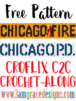 Our Croflix C2C crochet pattern & tutorial allows you to choose your favorite graphs for a custom graphgan blanket. This week features Chicago Fire & Chicago PD.