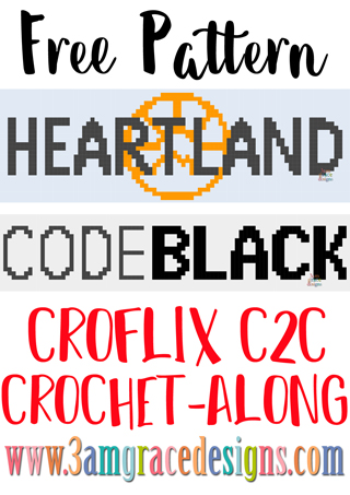 Our Heartland & CodeBlack Croflix C2C crochet pattern & tutorial allows you to choose your favorite graphs for a custom graphgan blanket.