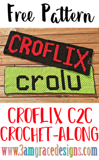 Our Croflix C2C crochet pattern & tutorial allows you to choose your favorite graphs for a custom graphgan blanket.