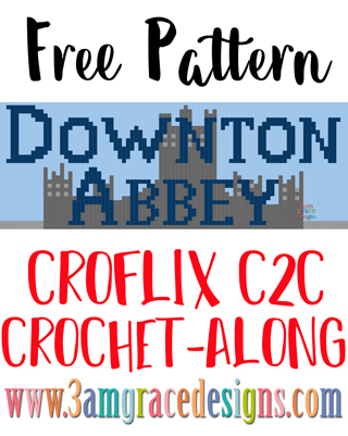 Our Croflix C2C crochet pattern & tutorial allows you to choose your favorite graphs for a custom graphgan blanket. This week's free panel is for the hit show Downton Abbey.
