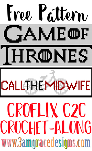 Our Game of Thrones & Call The Midwife Croflix C2C crochet pattern & tutorial allows you to choose your favorite graphs for a custom graphgan blanket.