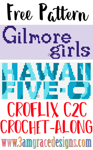 Our Gilmore Girls & Hawaii Five-0 Croflix C2C crochet pattern & tutorial allows you to choose your favorite graphs for a custom graphgan blanket.