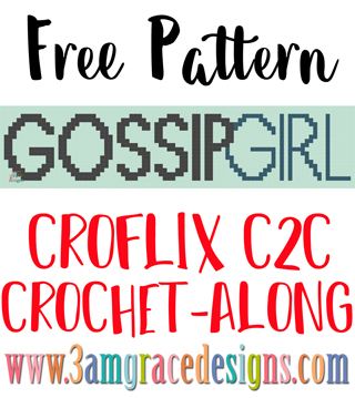 Our Gossip Girl Croflix C2C crochet pattern & tutorial allows you to choose your favorite graphs for a custom graphgan blanket.