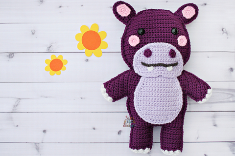 Little Bigfoot Hippo Free Crochet Pattern ~ Amigurumi To Go ... | 320x480