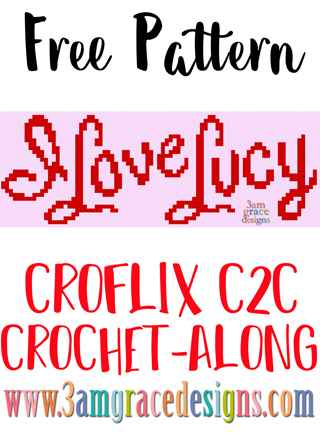 Our Croflix C2C crochet pattern & tutorial allows you to choose your favorite graphs for a custom graphgan blanket. This week's free crochet pattern is for I Love Lucy.