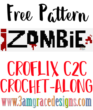 Our Croflix C2C crochet pattern & tutorial allows you to choose your favorite graphs for a custom graphgan blanket. This week's free crochet pattern is iZombie.