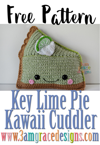 Our free Key Lime Pie amigurumi crochet pattern & tutorial makes a terrific dessert pillow!