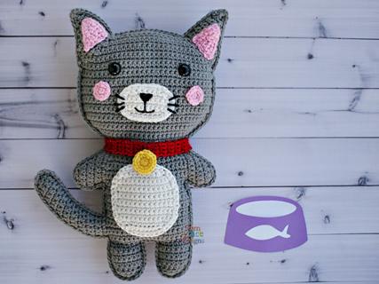 carriewolf.net » Blog Archive » New Crochet Kitty Collar design | 320x427