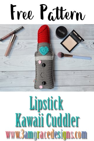 "graphic about Free Printable Crochet Patterns named Lipstick Kawaii Cuddlerâ""¢ - Cost-free Crochet Behavior"