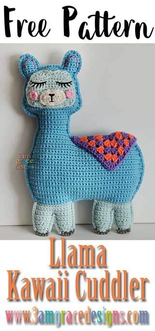 Our free ragdoll Llama crochet pattern makes an adorable amigurumi pillow for the llama lover in your life!