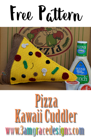 Our free pizza amigurumi crochet pattern creates fun pillow for that pie lover in your life!